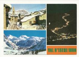 Cp, 73, Val D'Isère, Multi-Vues, Voyagée 1987 - Val D'Isere