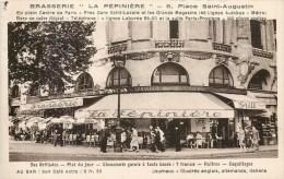 """PARIS PLACE SAINT-AUGUSTIN BRASSERIE RESTAURANT """" LA PEPINIERE """" 75008 - District 08"""
