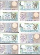 500 LIRE MERCURIO SERIE COMPLETA DEI 3 DECRETI 1974-1976-1979 10 BIGLIETTI SUP/FDS   N° 1040 - 500 Lire