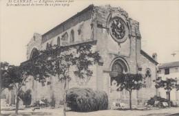CPA - St Cannat - L´église Démolie Par Le Tremblement De Terre Du 11 Juin 1909 - Other Municipalities