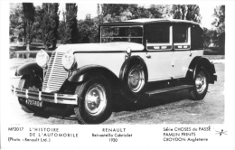 Renault Reinastella Cabriolet  -  1930  -  Pamlin Postcard - Voitures De Tourisme