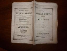 Sept. 1849 Annexe LE CONSEILLER DU PEUPLE Par LAMARTINE..rare Journal D´origine Tel Que Distribué (non Retaillé) - Kranten