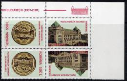 ROMANIA 2001 Centenary Of Post Office Tete-neche Pairs MNH / **.  Michel 5626-27 - 1948-.... Republics