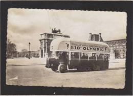 Paris -  L' Autobus  Publicitaire  Loterie Nationale 1/10è Olympic Billet Sportif - Arc De Triomphe - Transport Urbain En Surface