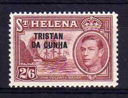 Tristan Da Cunha - 1952 - 2/-6d Definitive - MH - Tristan Da Cunha