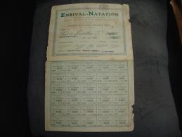 """Part Fondateur """" Ensival Natation """" (region Verviers)1930 - Verviers"""