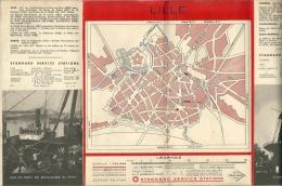 59  LILLE -  Carte   Publicité   ESSO  De 1935  ( 4 Scans ) - Roadmaps
