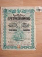 MEXIQUE - COMPANIA MINERA - LAS DOS ESTRELLAS - UNE ACTION DE 300 000...MEXICO - BEAUX GRAPHISMES - - Shareholdings