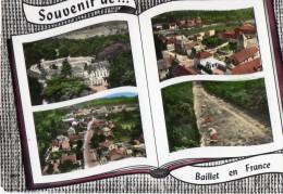 CPSM, (95)  Souvenir De BAILLET EN FRANCE, Multivues, Jamais Voyagée - France