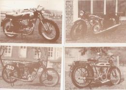 4 Motos  GILLET  -  A Courroie 1923  -  Gillet Bol D´Or  1938  -  Gillet Tour Du Monde  -  Gillet Milan 1956 - Motorbikes