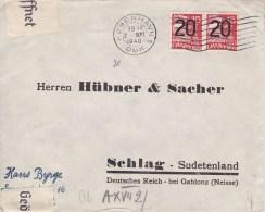 Denmark; Censored Cover To Sudetenland 1940 - Lettres & Documents