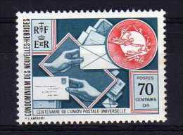 New Hebrides (Fr) - 1974 - Centenary Of UPU - MH - Légende Française