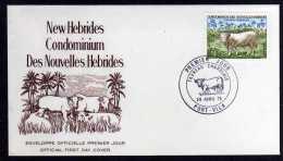 New Hebrides (Fr) - 1975 - Charolais Bull - FDC - FDC