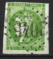 """YT 42B """" Bordeaux Cérès 5c. Vert Jaune Foncé """" 1871 Losange GC 2046 - 1870 Bordeaux Printing"""