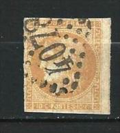 """YT 43B """" Bordeaux Cérès 10c. Bistre Jaune """" 1871 Losange 4078 - 1870 Bordeaux Printing"""