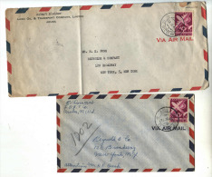 1948 1949 Curacao Aruba Netherlands Antillen Air Mail Covers To USA - Antille