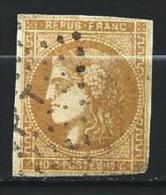 """YT 43B """" Bordeaux Cérès 10c. Bistre Jaune """" 1870 Losange PT - 1870 Bordeaux Printing"""