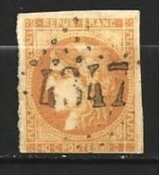 """YT 43B """" Bordeaux Cérès 10c. Bistre Jaune """" 1870 Losange 4347 - 1870 Bordeaux Printing"""