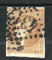 """YT 43B """" Bordeaux Cérès 10c. Bistre Jaune """" 1870 Losange 4317 - 1870 Bordeaux Printing"""