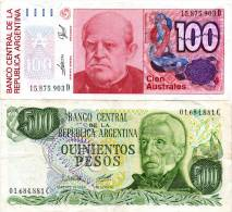 (12) Argentine Billet De 100 Australes 1985-1990 D10 + 500 PESOS (1977-82) - Monnaies & Billets