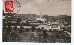 """Cartolina D´epoca (Formato Piccolo ) """" Cagli   - Panorama Parziale Della Città """" - Trento"""