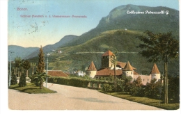 "Cartolina D´epoca (Formato Piccolo ) "" Bozen  -  Schloss Maretsch V.d.Wassermawer - Promenade "" - Bolzano"