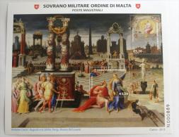 SMOM 2013 -  SHEET MAESTRI DELLA PITTURA, ANTOINE CARON , MUSEO LOUVRE DI PARIGI  MNH** - Sovrano Militare Ordine Di Malta