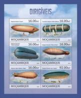 m13118a Mozambique 2013 Dirigible Zeppelins s/s