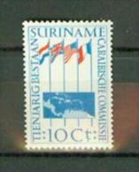 Suriname Surinam 1956,1V ,vlag,flag,Caribeanmap,kaart,,MNH/Postfris, (E1440) - Zonder Classificatie