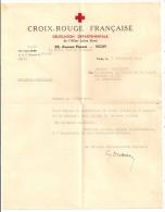LETTRE DE SEPTEMBRE 1943 / CROIX ROUGE DELEGATION DEPARTEMENTALE ALLIER ZONE LIBRE / MESSAGES FAMILIAUX CP7947 - Documentos Históricos