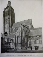Belgique , Audenarde , église Sainte Walburge , Circa 1915 - Documents Historiques