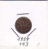 20 Centimes Bronze BAUDOUIN 1959 FR - 01. 20 Centimes