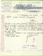 1921-FATTURA PUBBLICITARIA-IMOLA-PIETRO PADOVANI-CEMENTI - Publicités