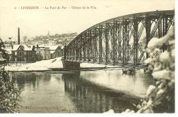 CPA  LIVERDUN, Le Pont De Fer, Usines De La Flie  8582 - Liverdun