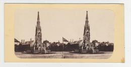 Czech Republic - Prag - Das Franzensmonument - Stereoscopic Photo - 19th Century - Stereoscopische Kaarten