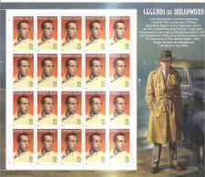 62737) 1997 USA-legende Di Hollywood-humphrey Bogart 32c.  Foglio Intero Nuovo Di 20 Francobolli - Unused Stamps