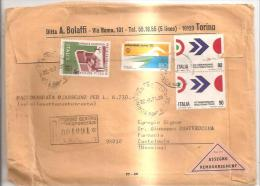 79966) Busta Conafrancatura Racc.con2franc.da90L1da180L1da20L - 6. 1946-.. Repubblica