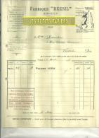 74 - Haute-savoie - ANNECY -  Facture REESIL - Fabrique Reesil - 1926 - France