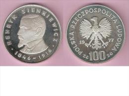 Polen 100 Zlotych 1977  Km  88  Proof  Catalog Val. 45$ - Polen