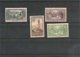 ANDORRE Année 1932/33 N° Y/T 24*  28* 31* 32* Côte 14 €