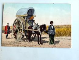 Carte Postale Ancienne : BACOU : Type D´une Voiture Employée Par Les Tartares , Types De Caucase En 1910 - Azerbaïjan