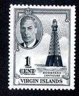 2576x) Br,Virgin Is. 1952 - SG #136   M*  ( Catalogue £.80 ) - British Virgin Islands