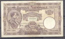 Belgium 100 Fr 1923  VF+ - [ 2] 1831-... : Royaume De Belgique