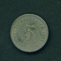 GERMANY - 1897  5pf  Circ. - [ 2] 1871-1918: Deutsches Kaiserreich