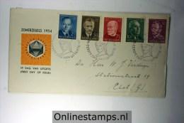 Netherlands 1954 E16,  Summer Issue , Open Flap, - FDC