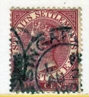 Straits Settlements  41  (o)  Wmk 2  CA  1882-99  Issue - Straits Settlements