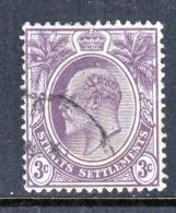 Straits Settlements  110  (o)   Wmk 3  Multi  CA  1904-11  Issue - Straits Settlements