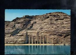 H2594 Abu Simbel, Small Rock Temple ( Hathor Temple ) - Nice Stamp 1966 And Coucher Aswan, Egypt - Abu Simbel