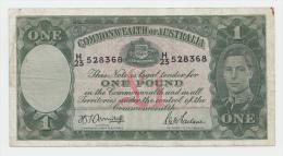 Australia 1 Pound 1942 AVF Crispy Banknote P 26b 26 B - Tweede Wereldoorlog Uitgaven