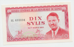 Guinea 10 Sylis 1980 UNC NEUF P 23 - Guinea